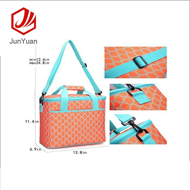 JUNYUAN Waterproof Cooler Insulated Picnic Bag for Grocery, Camping, Car