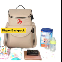 2018 Large Capacity Multi-function Shoulder Backpack Diaper Bag
