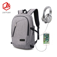 "Slim Business Antitheft Backpack With USB Charging Port Fits 17"" Laptop"
