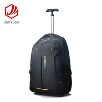 "JUNYUAN 19"" Wheeled Rolling Carry-on Trolley Travel Bag Backpack for Men"