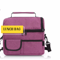 Insulated Thermal Large Capacity Cooler Lunch Bag for Women