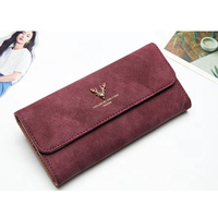 JUNYUAN Womens Leather Wallet Clutch Long Wallets Large Capacity Card Holder Purse