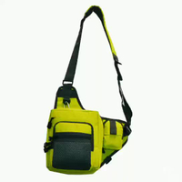 JUNYUAN Multi-function Portable Fishing Tackle Shoulder Bag Waist Bag