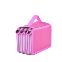JUNYUAN Waterproof Oxford Children Teenage Girls Color Pencil Case Box With 4 Zipper