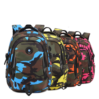 Camouflage Waterproof Nylon School Bags for Girls Boys Orthopedic Children Backpack Kids Bag