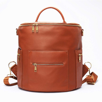 Unisex Faux Leather Tote Backpack Bag Diaper Changing Pad - For Men and Women