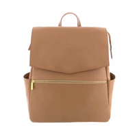 QUAN ZHOU New Fashion PU Leather Baby Nappy Bag Backpack Diaper Bag