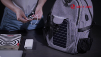 Detachable Wholesale Panel Solar Backpack