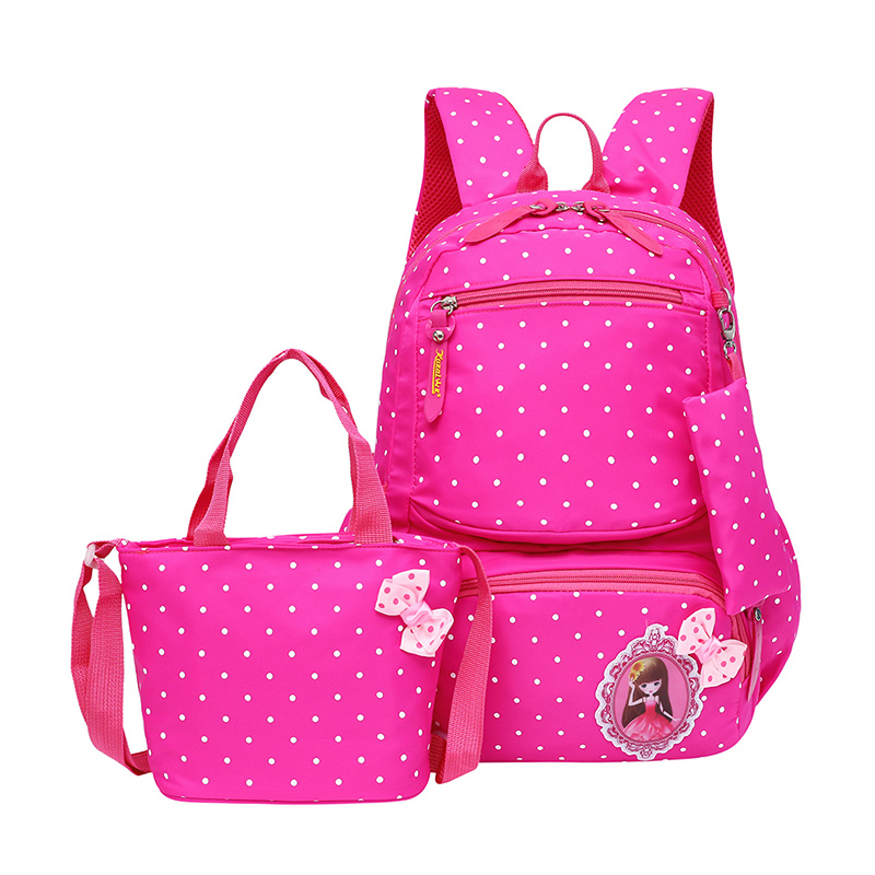 Cute 3pcs for Children Kids Cartoon Backpack School Bag with Picture