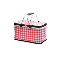 JUNYUAN Outdoor Portable Cooler Bag Folding Picnic Basket Lunch Bags