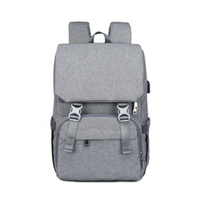 JUNYUAN OEM Backpack Bags Large Capacity Waterproof USB Charger Mummy Mom Nappy Bag Baby Diaper bag