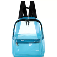 JUNYUAN Fashion PVC Transparent Jelly Bag Women Girl School Shoulder Backpack Back Pack