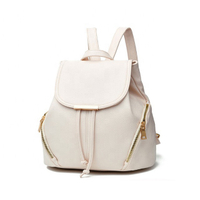 JUNYUAN School Leather Backpack Shoulder Bag For Woman and Girl