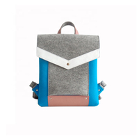 JUNYUAN Colorful Factory Supply Felt Laptop Backpack Bags For Teenagers