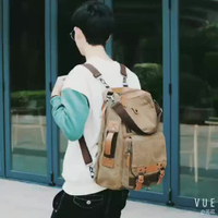 JUNYUAN Fashion Canvas Bag Retro Laptop Backpack Business Bag