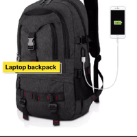Unisex College Bag Laptop Casual Rucksack Waterproof School Backpack Daypacks with USB Charging Port