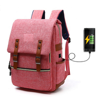 JUNYUAN USB Charging Port Backpack Notebook School College Laptop USB Backpack