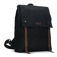 Canvas Genuine Leather Shoulder Bags Stylish Hiking Travel Backpack