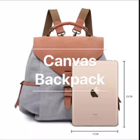 Fashion Women Canvas Backpack Rucksack Satchel Travel Hiking School Book Bag