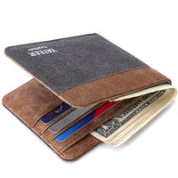 Travel Leather Wallets For Men With RFID Blocking Card Slim Wallet