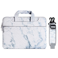 JUNYUAN 13,14,15inch Marble Portable Waterproof Business Computer Laptop Bag ,Briefcase For Women