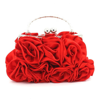 JUNYUAN Rose Lady Hand Bag Clutch Handbag, Evening Bag For Women