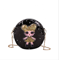 New PU Sequins LOL shoulder bag For Girls Glitter Cute Chain Purse Bag