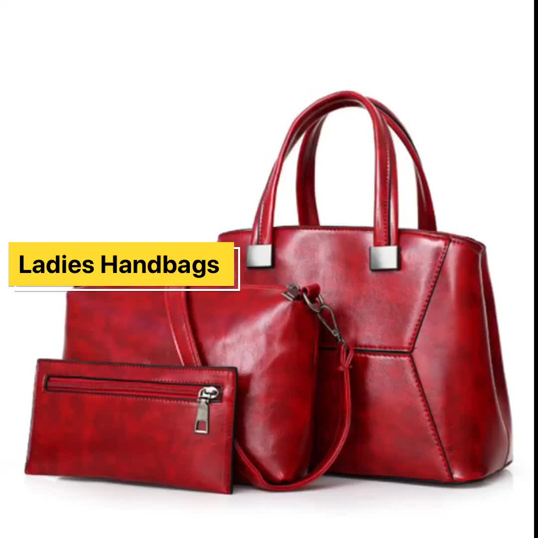 Leather Tote Bag for Women, Large Commute Handbag Shoulder Bag Zipper