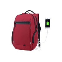Scratch-resistant anti-tear travel school backpack business laptop backpack bag with USB charging port